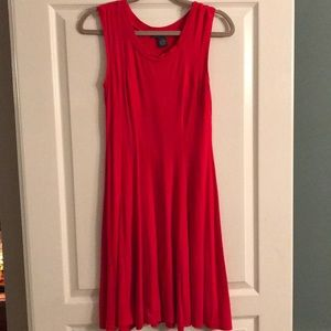Red A-Line Flowy Dress